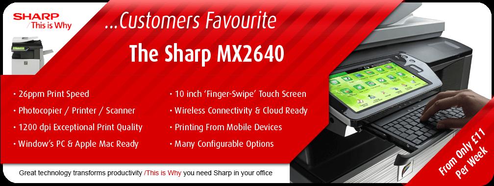 The Sharp MX2640